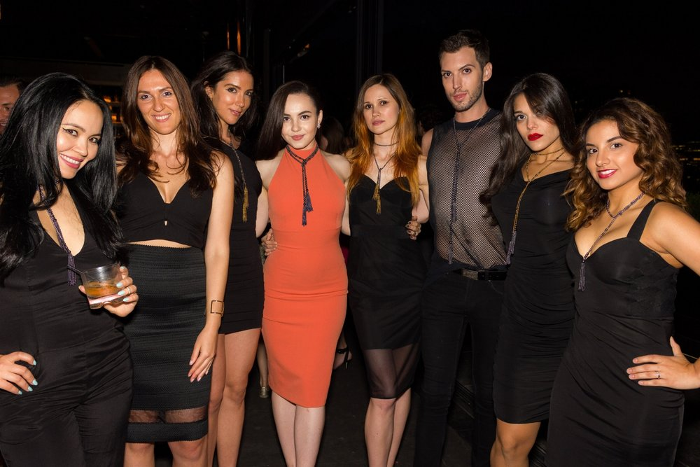 Models at  Olga Parkers Jewelry  Launch  FATALE PARKERS  film premier