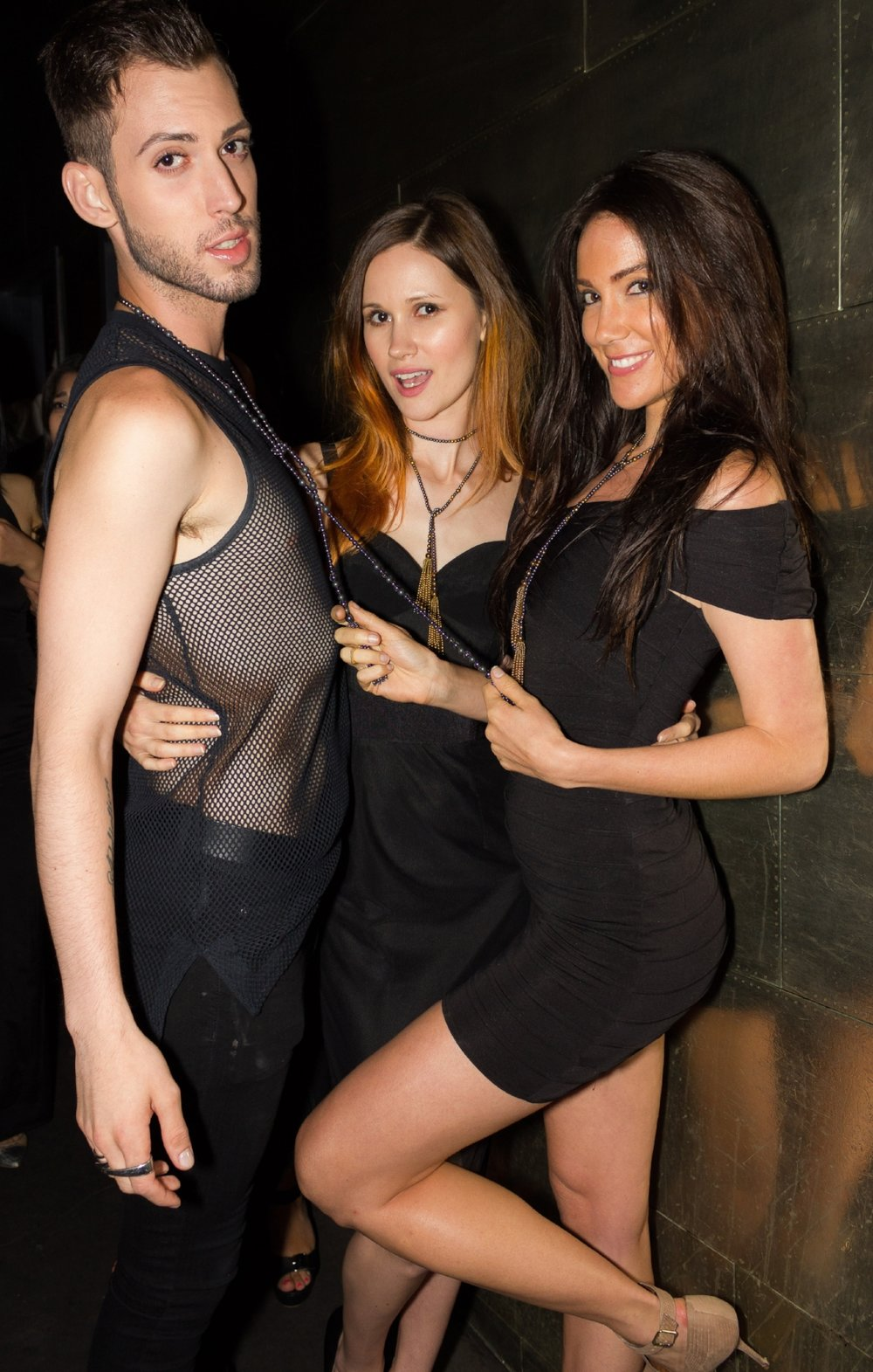 Models Tim MacKay, Eugenia & Isla Marie wearing  Olga Parkers Jewelry  Tassels from the LARIAT TASSEL COLLECTION