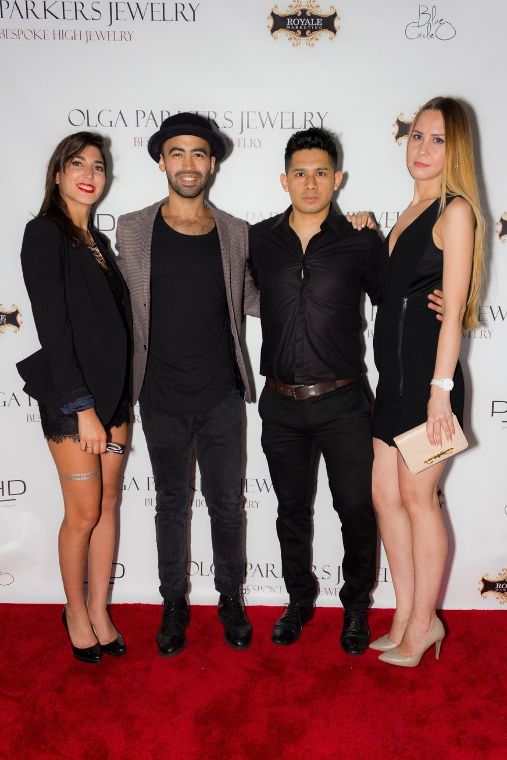 Sophie Khoury, Arnaldo Franco, Walter Taffur & Anastasia Step at OLGA PARKERS JEWELRY launch at PHD ROOFTOP DREAM Hotel