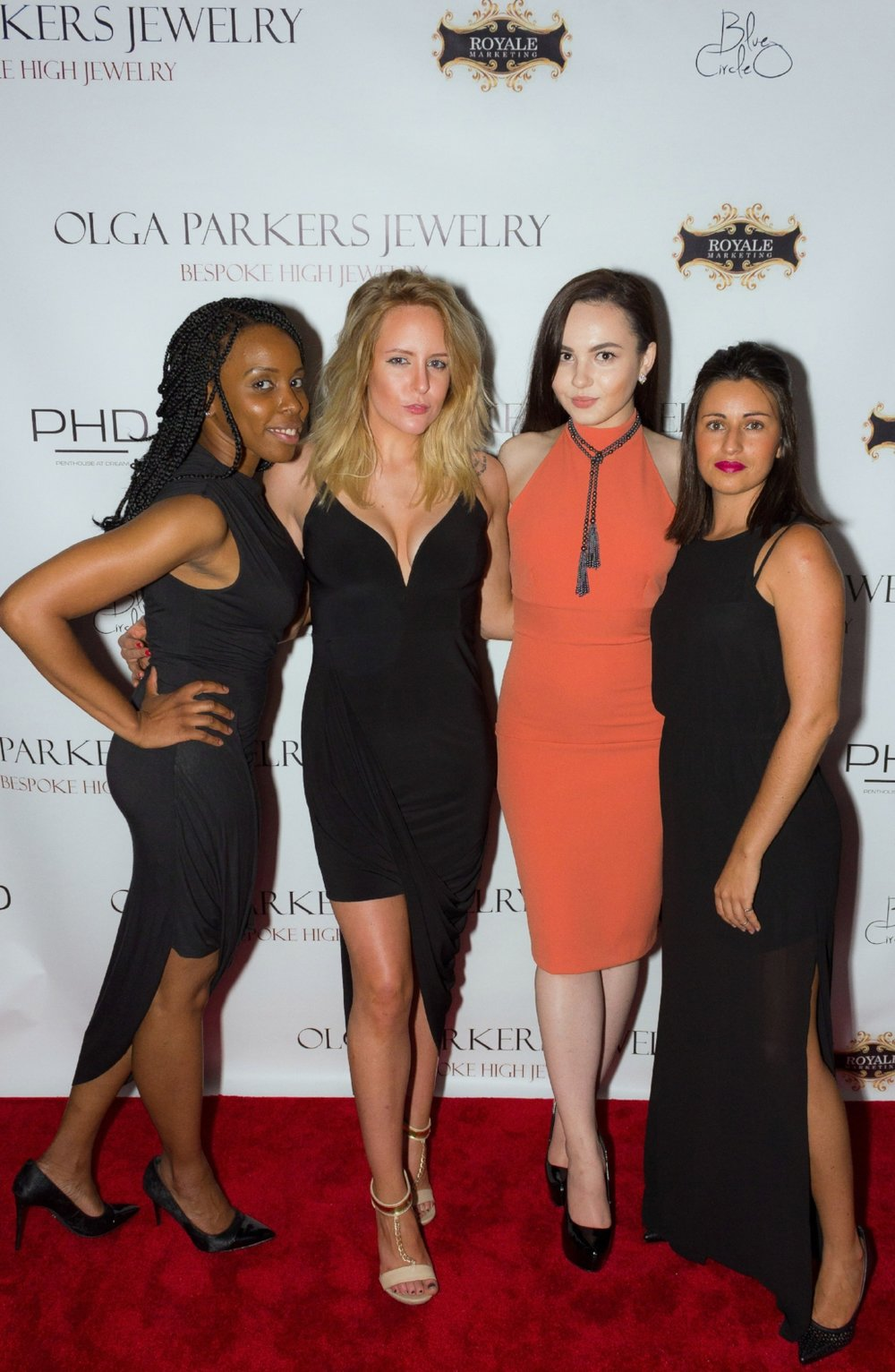 Nicole Syatchan, Stephanie Bishop, Olga Gavriluk & Ines Mamede at OLGA PARKERS JEWELRY Launch