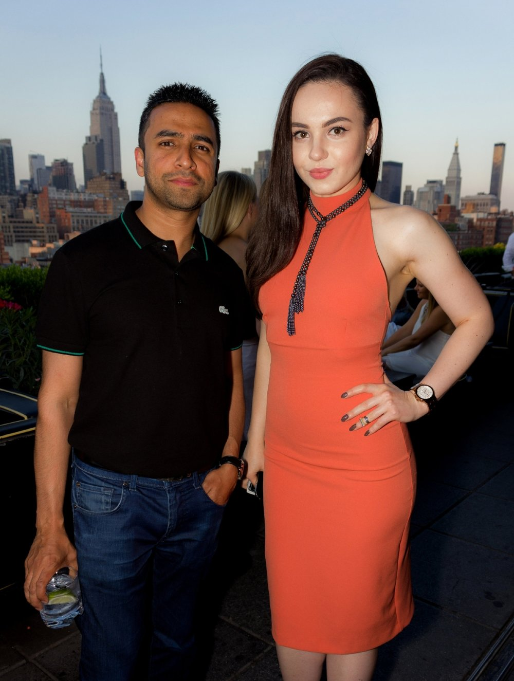 Sameet Qureshi & Olga Gavriluk at PHD PENTHOUSE at DREAM - OLGA PARKERS JEWELRY Launch