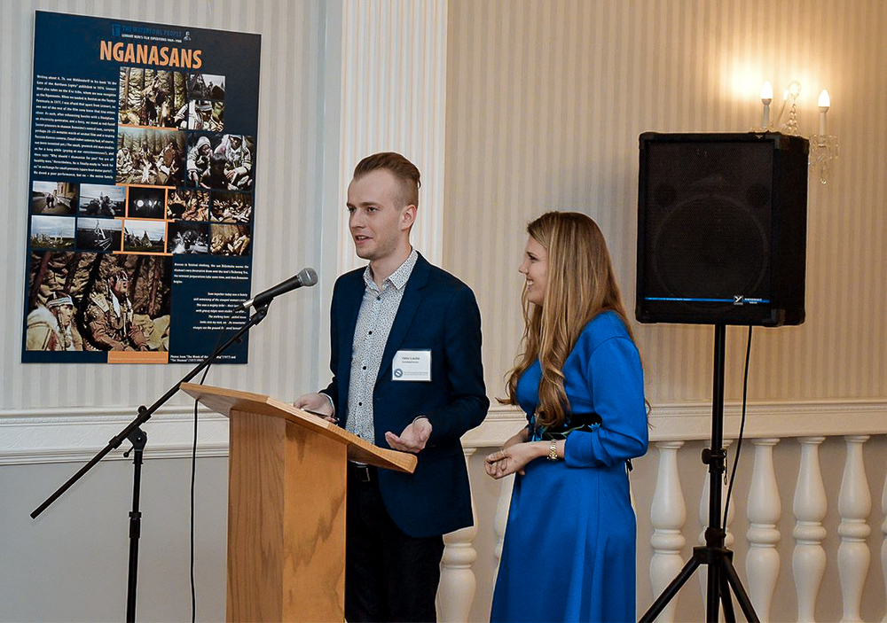 Valev Laube and Kadri Napritson opening the Estonian Cultural Days