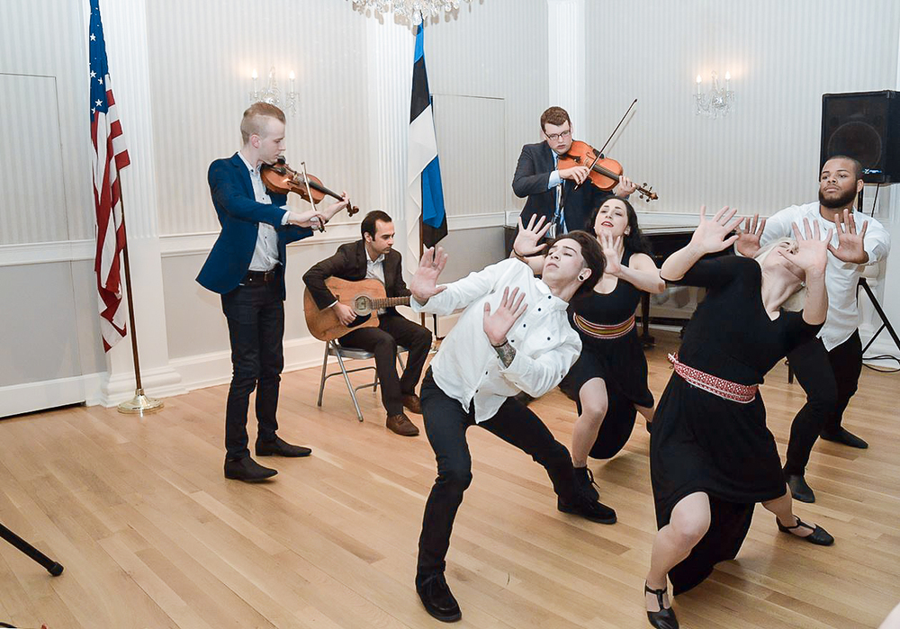 Valev Laube and Diina Tamm's performance at the Estonian Cultural Days opening concert