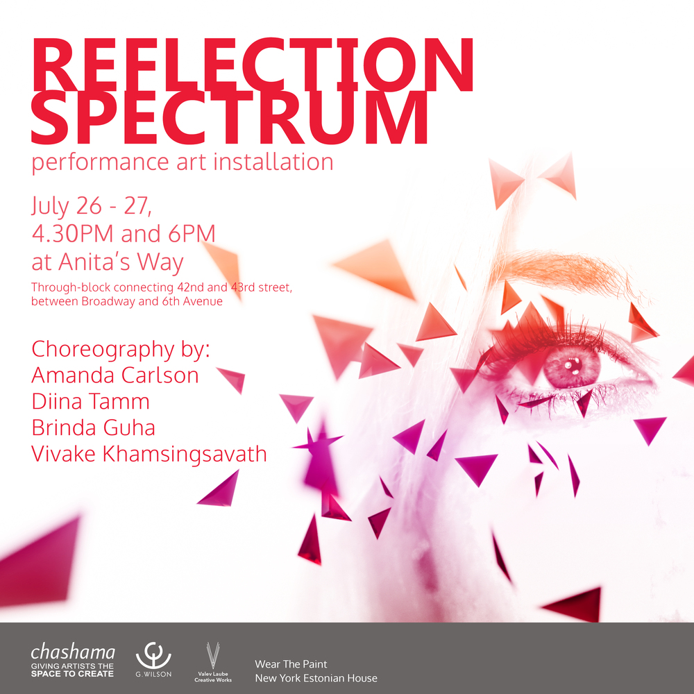 "Performance Art Installation ""Reflection Spectrum"" poster"