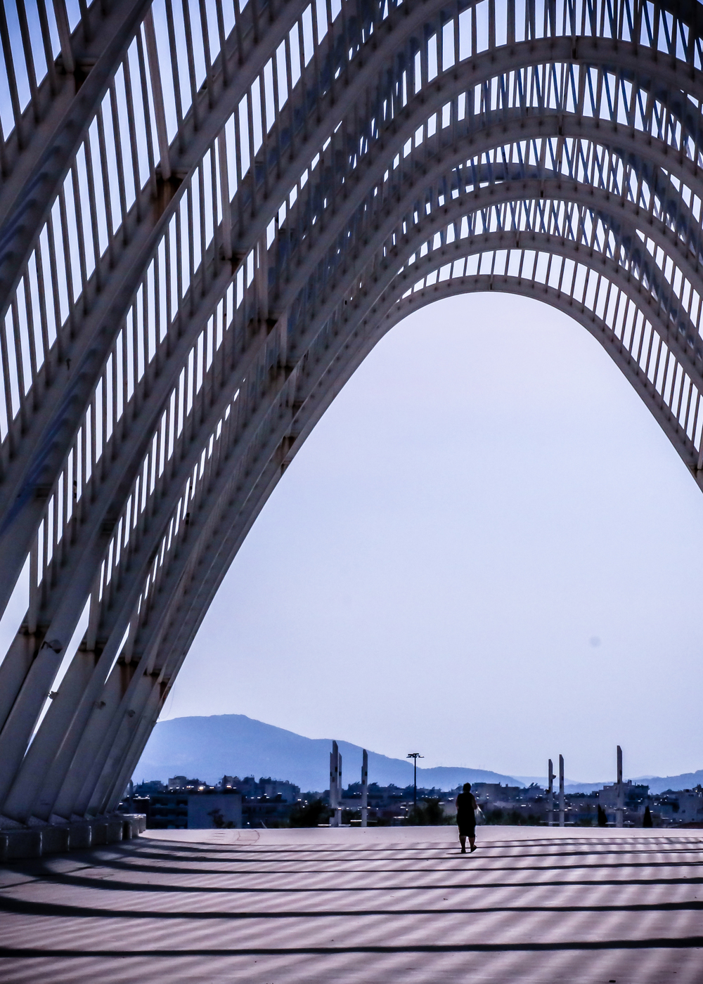 The arches at the Olympic Athletic Center of Athens (Photo: Valev Laube)