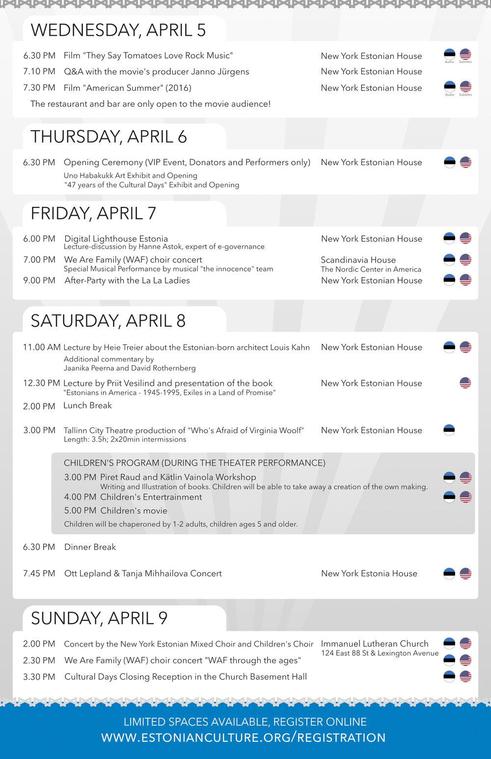 Full Schedule