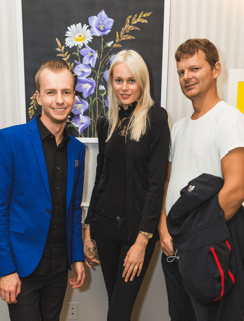 Valev Laube with an Estonian model Hanna Paat and entrepreneur Keith Siilats