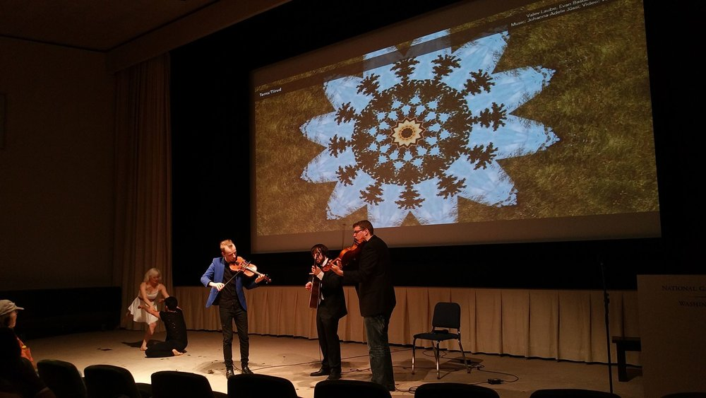 "Laube and his multidiciplinary concert ""Tonality of Culture"" at the National Gallery of Art"