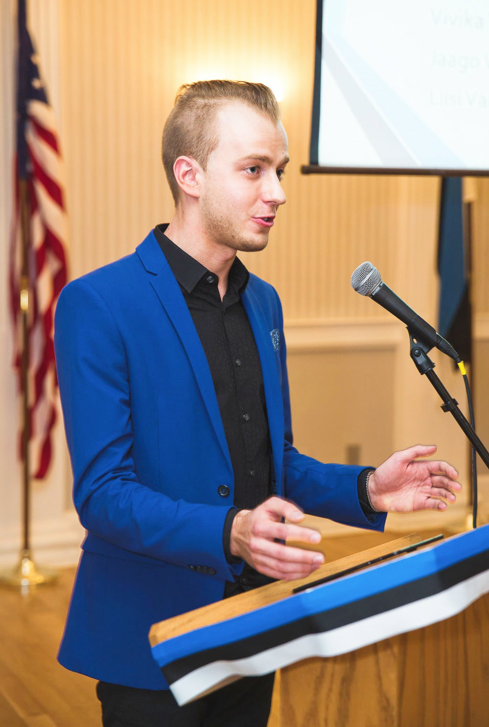 Valev Laube opening the Estonian Cultural Days in New York 2017 for a second year in a row