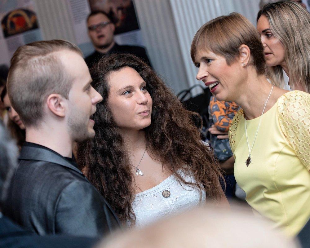 Reception with The President of Estonia, Kersti Kaljulaid