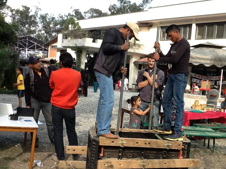 Demonstration of Rammed earth building at The British School, Kathmandu