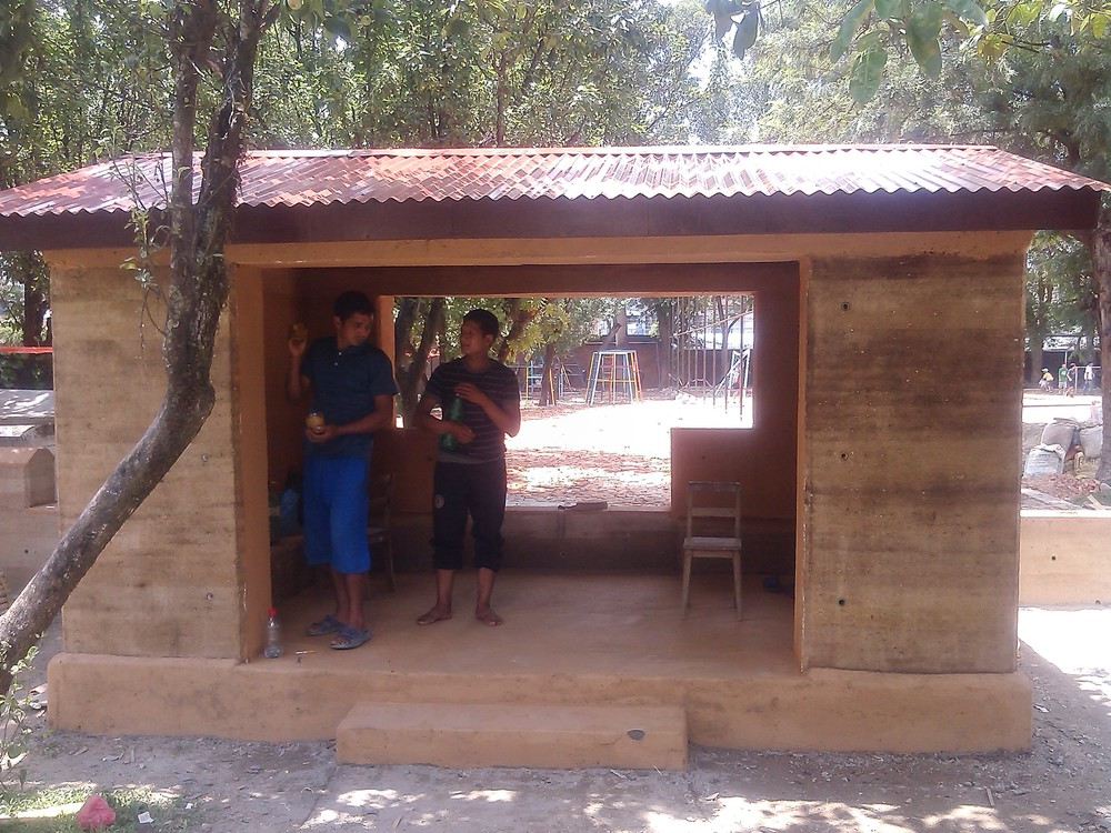 Completed playhouse at The British Shcool, Kathmandu, 2014