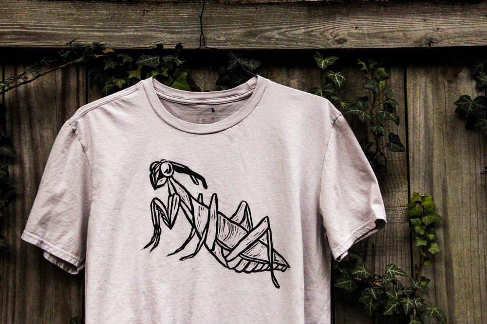 Hand Printed Bug Shirts. -