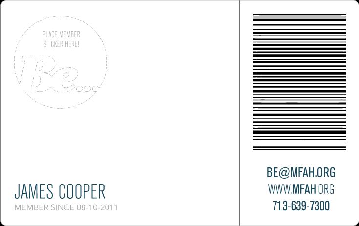 Back side of card