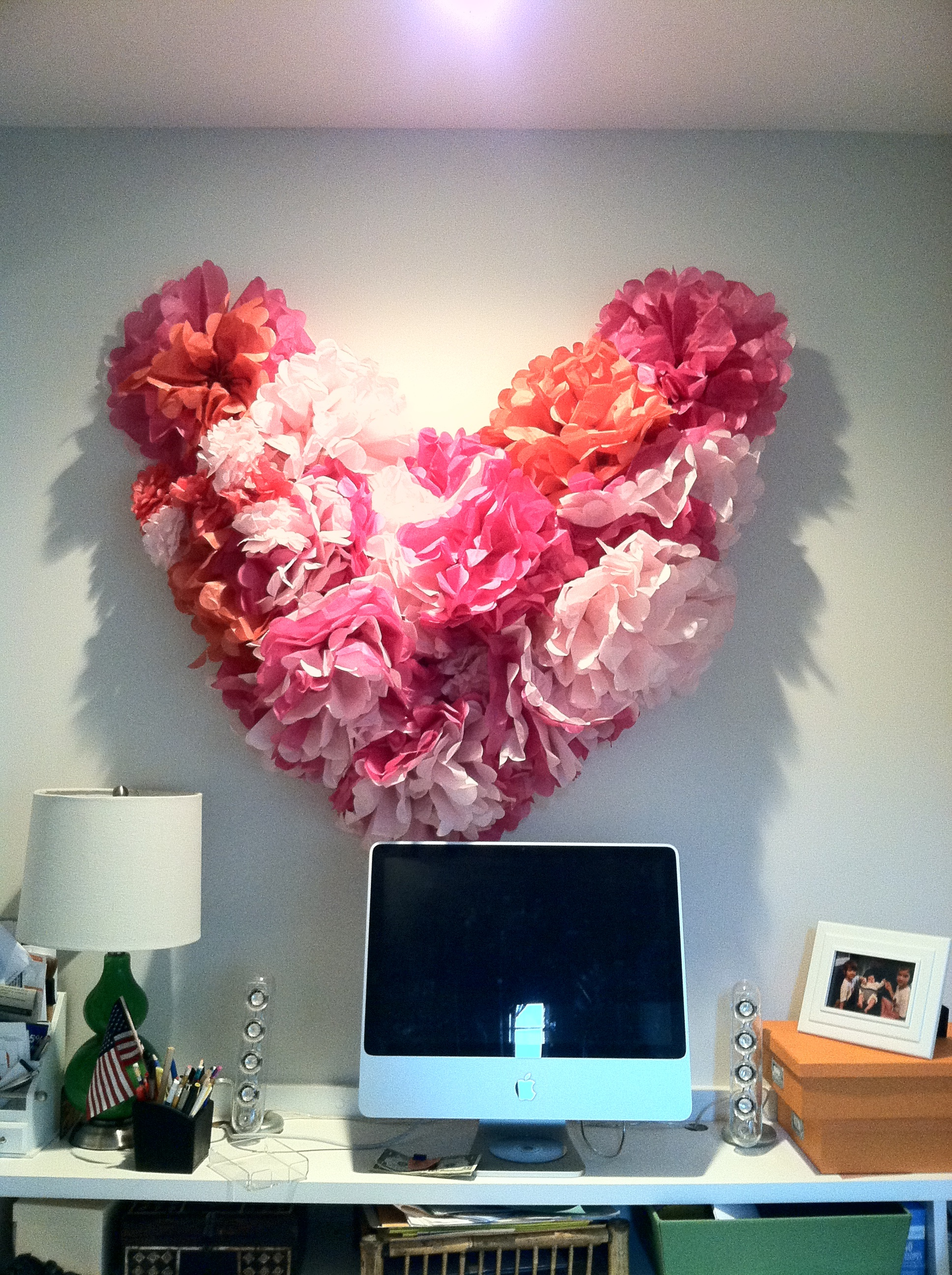 Diy Pom Pom Heart Sarah Catherine Design