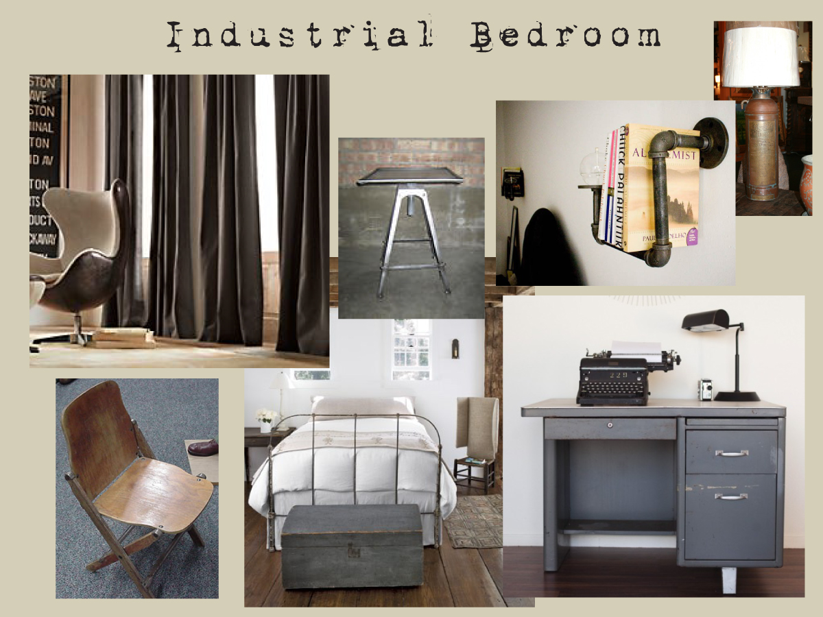 Industrial bedroom sarah catherine design Industrial bedroom