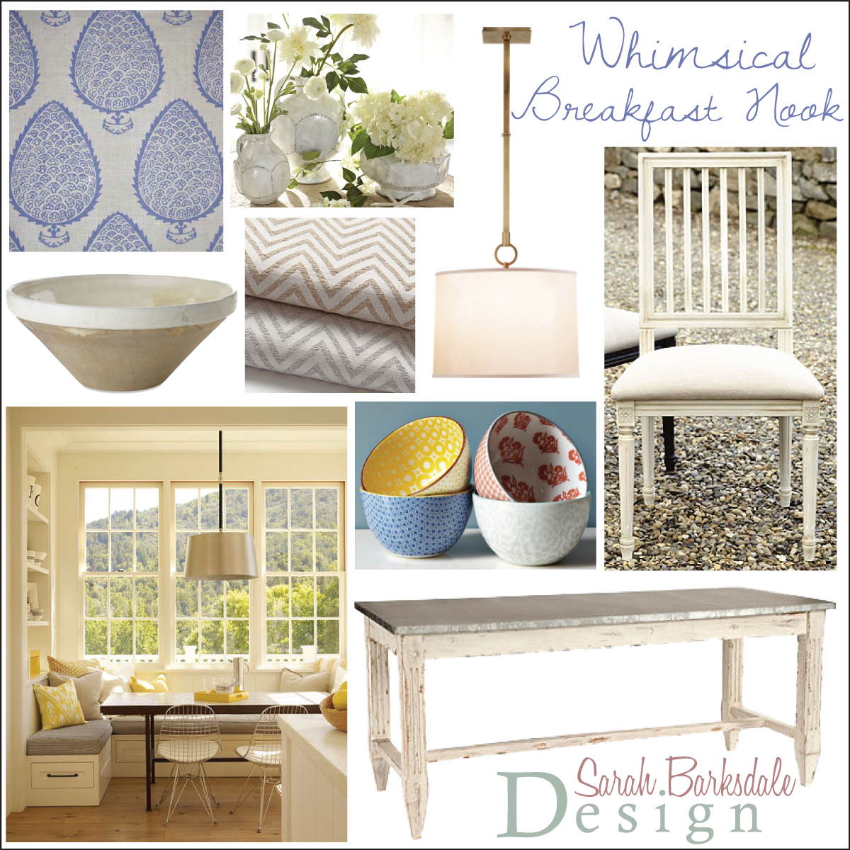 Whimsical Breakfast Nook | Sarah Barksdale Design