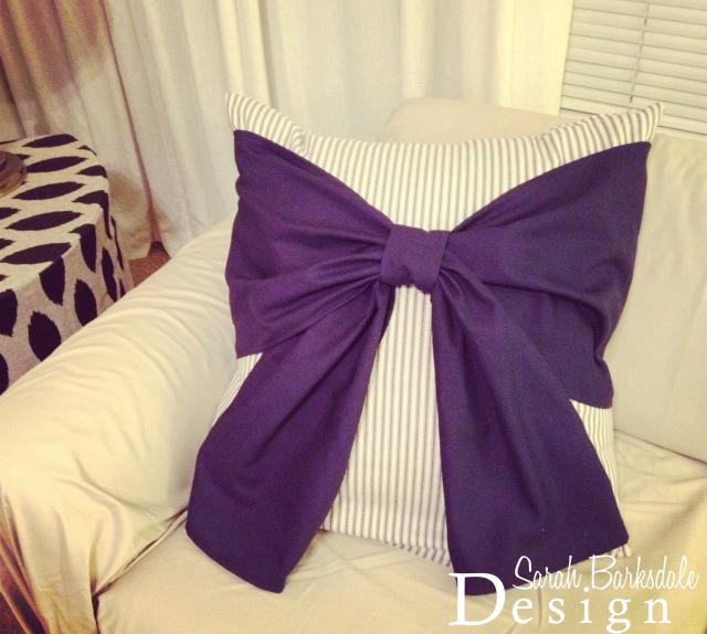 DIY Bow Pillows | Sarah Barksdale Design