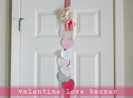 Valentine's Day Heart Garland - from Jones Design Company