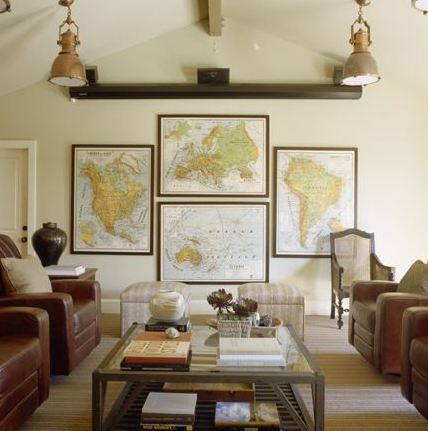 Decorating with Maps | Sarah Barksdale Design