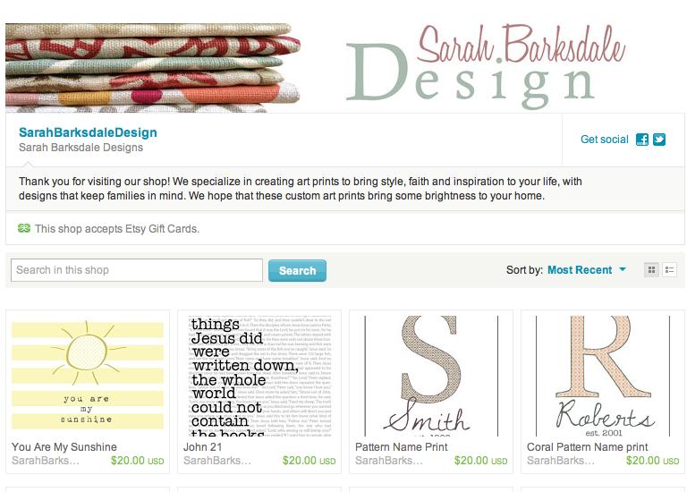 Print Shop | Sarah Barksdale Design