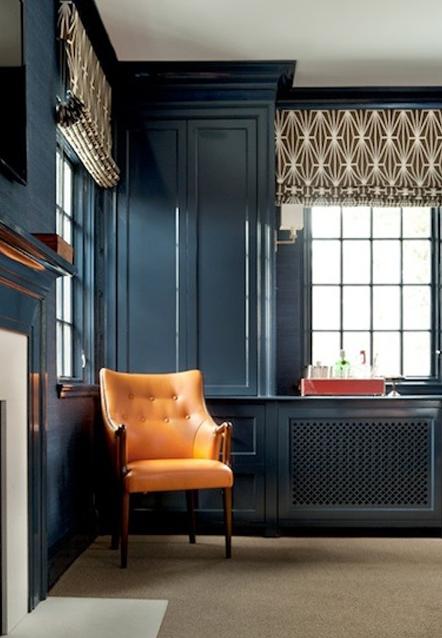 Decorating with orange and Blue | Sarah Barksdale Design