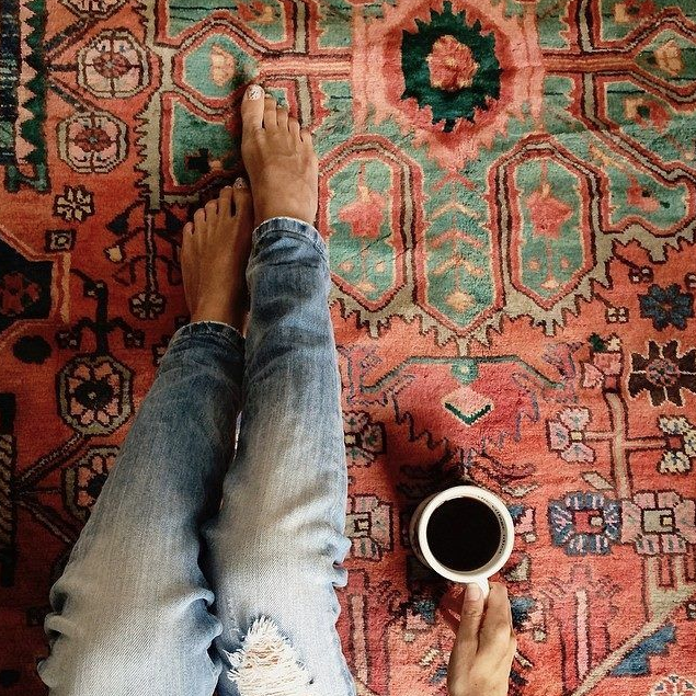Dying Over Kilim Rugs Sarah Catherine Design