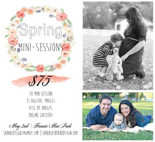 Spring Mini Photo Sessions | Sarah Catherine Photography