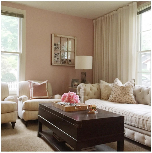 My new pink living room