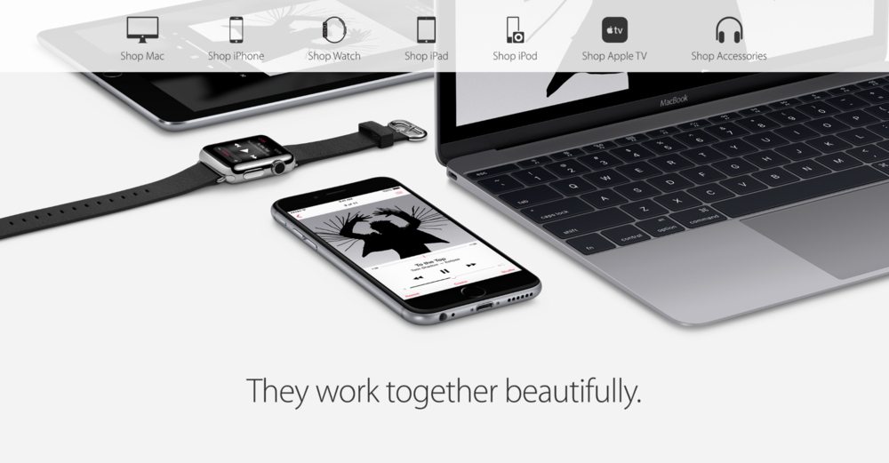 Header from  Apple's US online store .