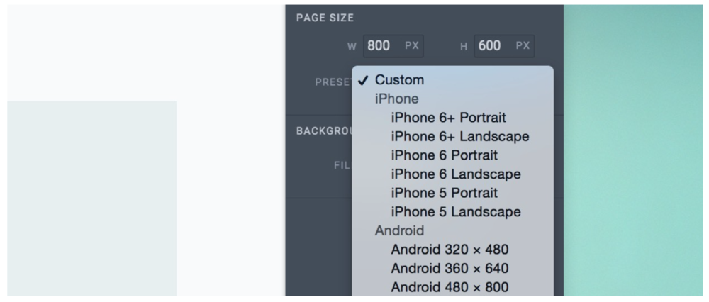 Defining your page size
