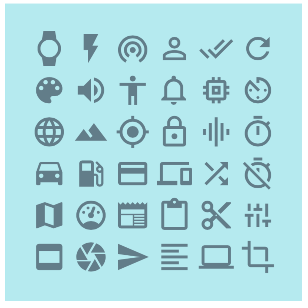 Material Design even provides an entire set of system icons.