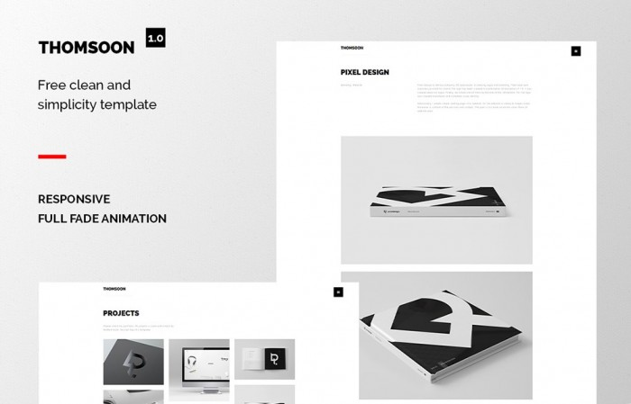 """THOMSOON – Free responsive Portfolio Theme"" by Tomasz Mazurczak"