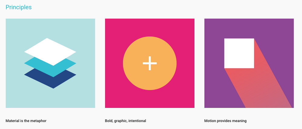 Google Material Design Principles , Google