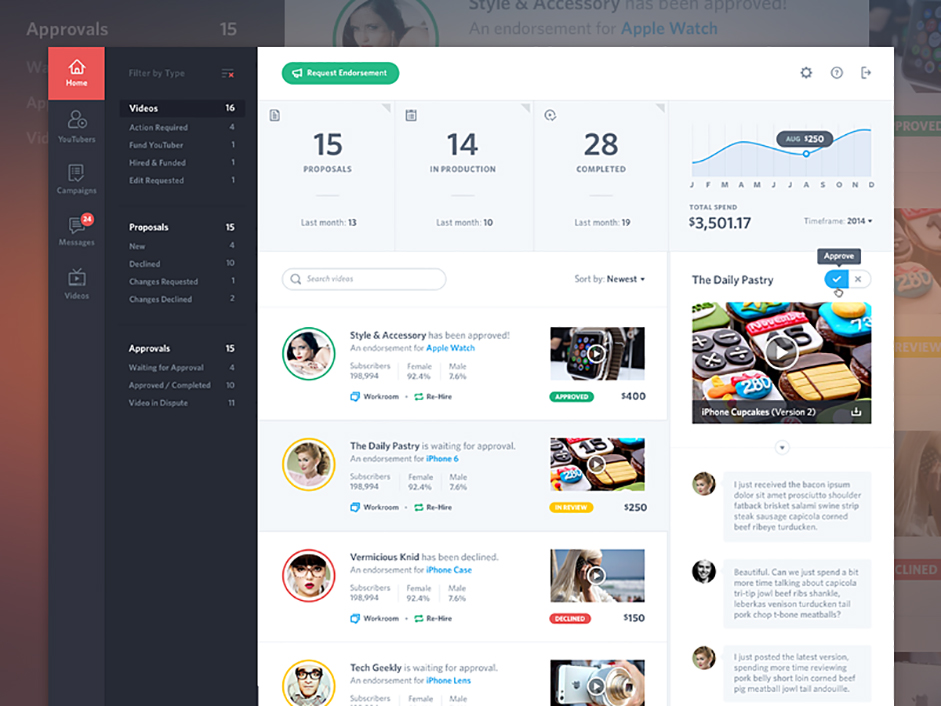 Activity Feed UI/UX by  Mason Yarnell