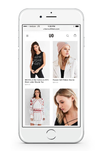 Grid view example for ecommerce site