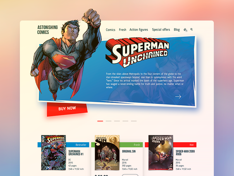 Comics Shop Home Page  by  Dima Panchenko