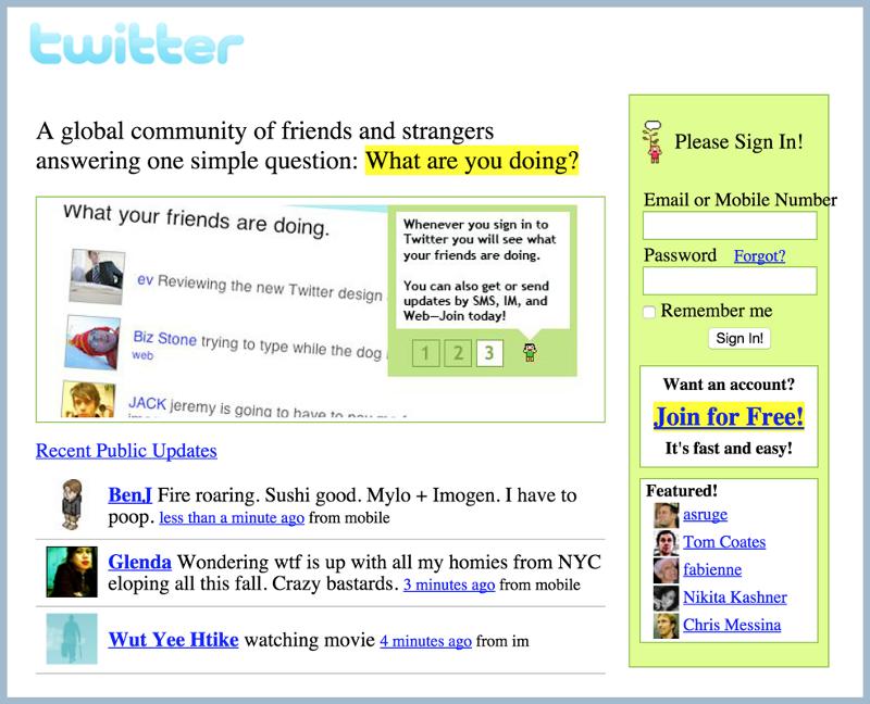 Twitter.com in 2006