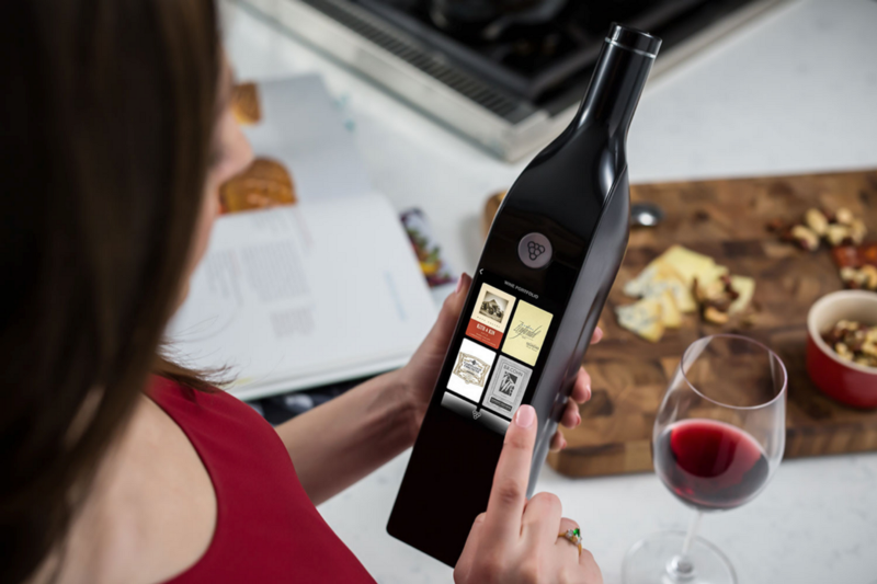 Does putting a touch screen on a wine bottle actually solve people's problem or is it just cool?