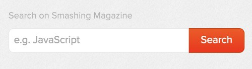 Smashing Magazine's search form uses a label