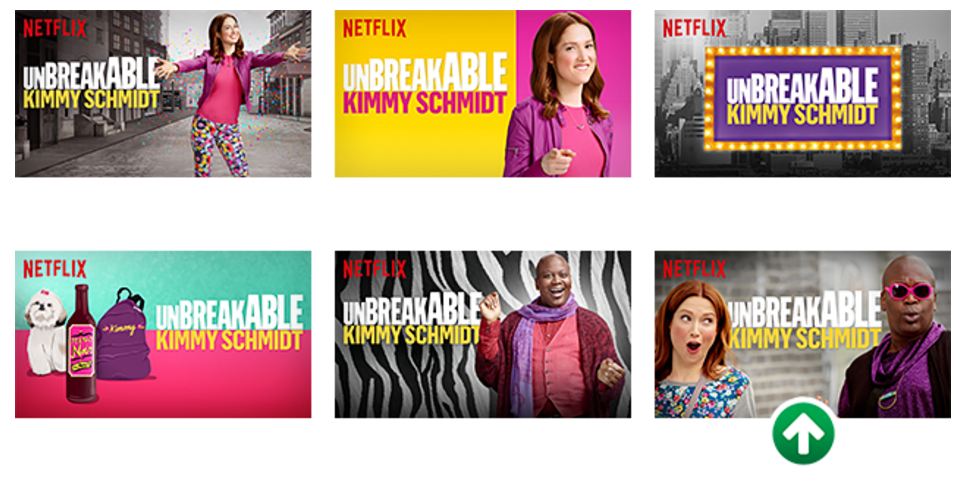 Image from Netflix blog, the last marked images significantly outperformed all others.