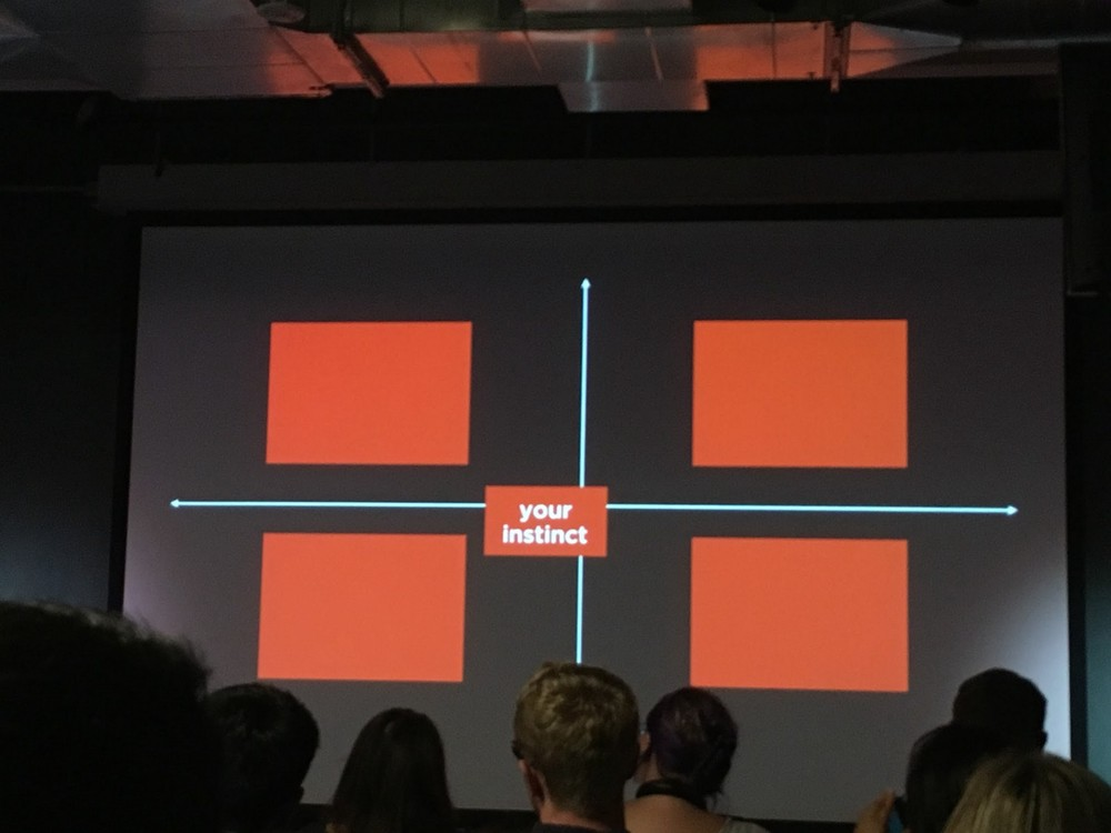 Image from the presentation: your instinct is not always right