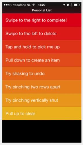 Clear app for iOS