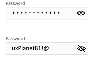 Good:'Show Password' as icon button