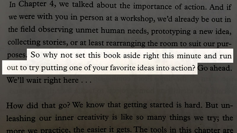From the book Creative Confidence, taken with #snaplightapp