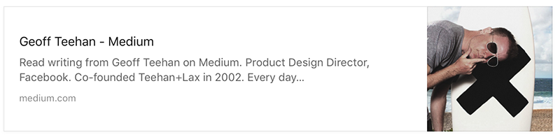 Read writing from Geoff Teehan on Medium. Product Design Director, Facebook. Co-founded Teehan+Lax in 2002. Every day…