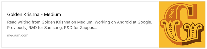 Read writing from Golden Krishna on Medium. Working on Android at Google. Previously, R&D for Samsung, R&D for Zappos…