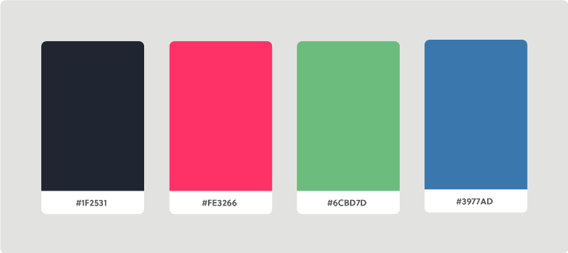 As an example, here is  Invision's color palette.