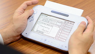 Low-fidelity prototyping out of cardboard in Nintendo is one way to actually know what a product would feel like. Image credit: Nintendo