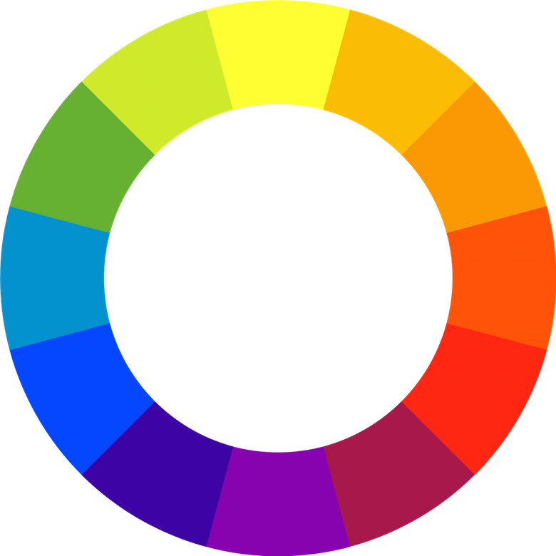 The twelve-spoke color wheel is an important tool in creating color schemes.